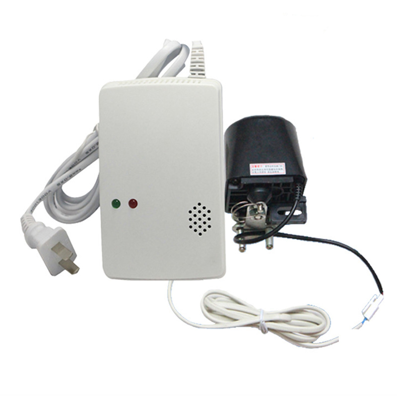 Wireless Liquefied Natural Coal Gas Detector Alarm Sensor Mechanical Arm 85db Voice House Home Security Alarm
