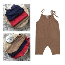 spring autumn toddler girl overalls cotton knited pocket jumpsuits for kids lovely children knit overall babys fashion clothes