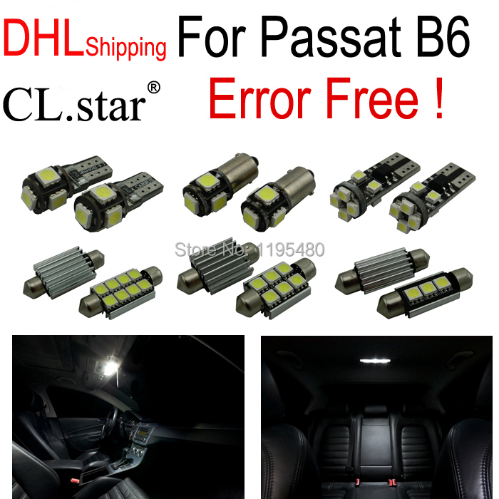 DHL shipping 13pc perfect canbus No Error for Volkswagen VW Passat B6 light LED interior light