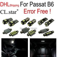 Доставка DHL 13 шт. идеальный canbus Нет Ошибка для Volkswagen VW Passat B6 свет LED внутренних свет Комплект Упаковки (2006-2010)
