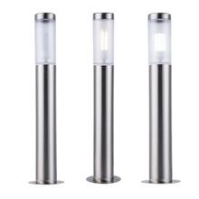 ZMJUJA светодиодный садовый светильник из нержавеющей стали, водонепроницаемый светодиодный светильник для ландшафтного двора, газона, дорожки, 7 Вт, светильник на столбике, AC220V