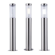 ZMJUJA Stainless Steel LED Outdoor Garden Light Waterproof Led Landscape Yard Lawn Path Lamp include 7W Bollard Light AC220V(China)