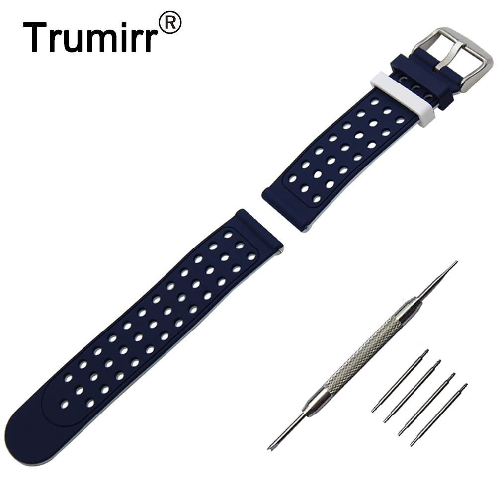 22mm 24mm Silicone Rubber Watch Band Double Side Wearing for <font><b>Breitling</b></font> <font><b>Strap</b></font> Wrist Belt Bracelet + Tool + Spring Bar image