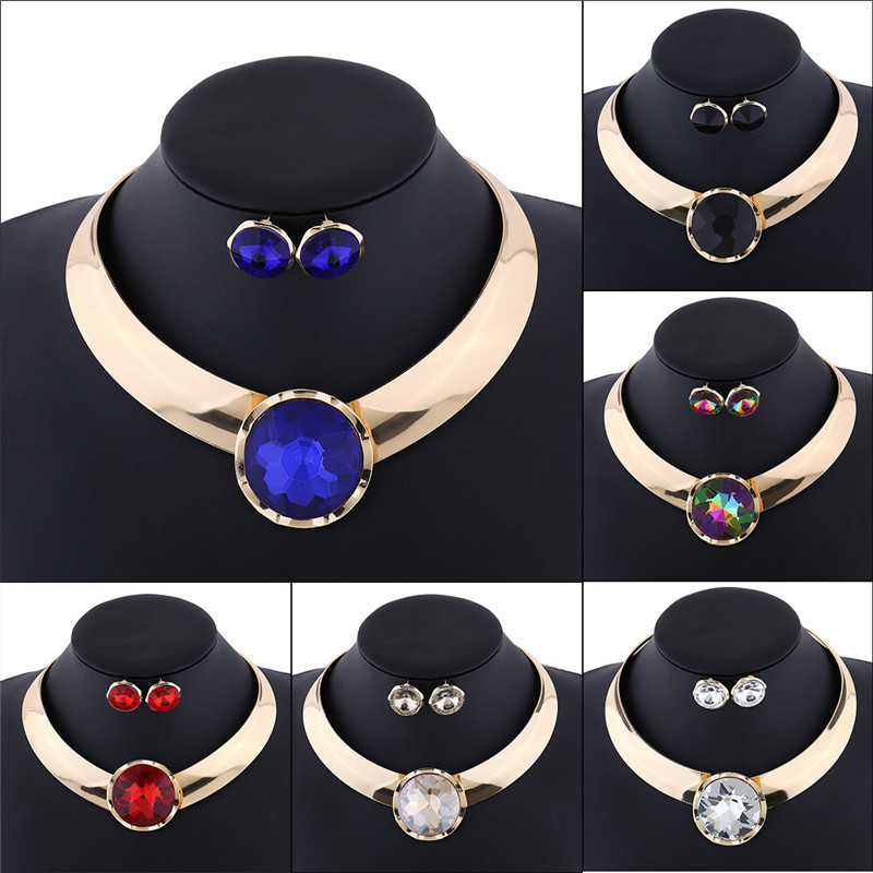 Alloy Necklace Earring Set...