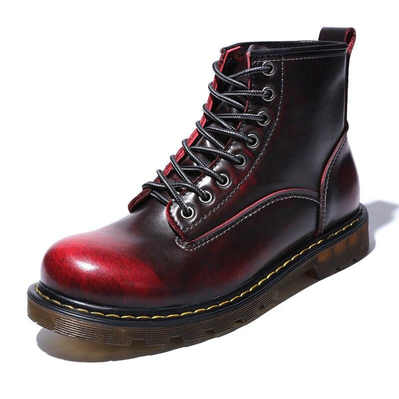 Ботинки; мужские Ботильоны; зимние кроссовки из натуральной коровьей кожи; нескользящая Водонепроницаемая Рабочая обувь
