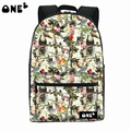 ONE2 Design singing birds and fragrant flowers school bag polyester laptop backpack high school students teenager boys girls
