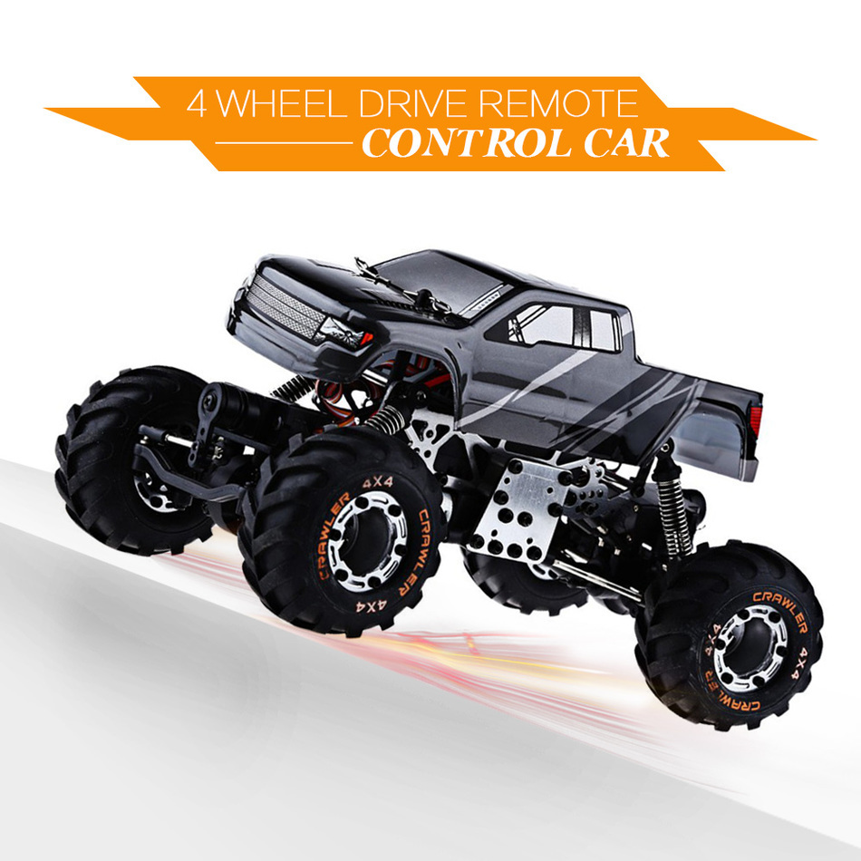 RC Car 4WD Simulation Racing Car 2.4G Devastator Rock Crawler Car 1/24 Off-Road Vehicle Buggy Light Weight Electronic Model Toy mst 532141 cmx 1 10 4wd fj40 kit off road car climbing simulation model car