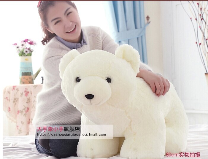stuffed animal 60 cm lovely white polar bear plush toy doll throw pillow gift w5461 35cm lovely white brown polar bear plush toy lovely stuffed polar bear doll kids gift