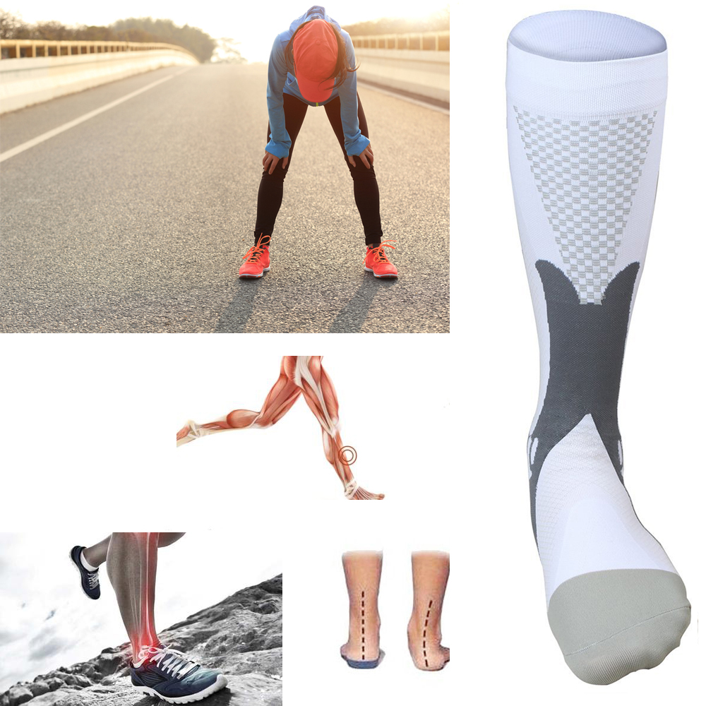 Sport Athletic Cycling Socks Professional Men Women Long Knee Support Running Active Unisex Leg  Stretch Compression Socks