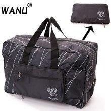 WANU, мужская дорожная складная сумка, женская сумка для хранения, водонепроницаемая, повседневная, чемодан, вещевой мешок, складная сумка, багаж для подушки безопасности, для покупок