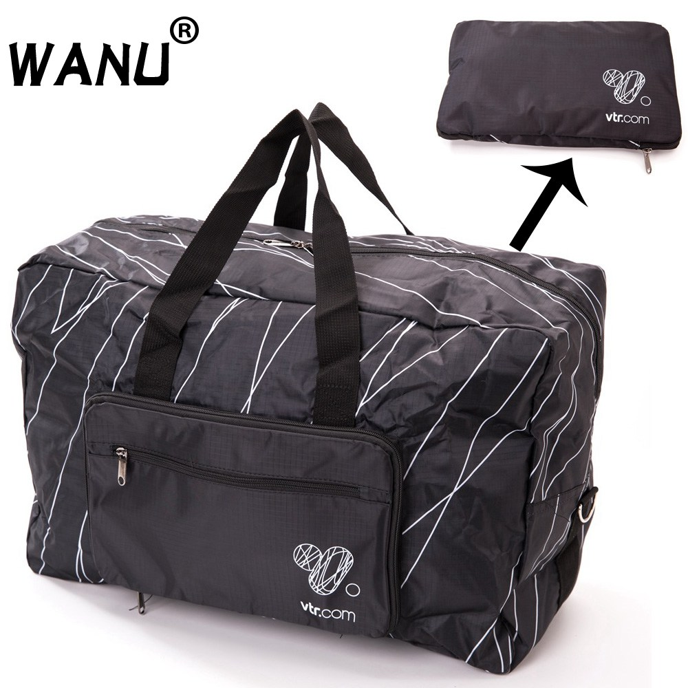 WANU Lelaki Travel Folding Bag Women Storage Totes Waterproof Casual Suitcase Duffel Bags Lipat Bag Luggage For Shopping Bag