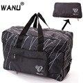 WANU Men Travel Folding Bag Women Storage Totes Waterproof Casual Suitcase Duffel Bags Fold Bag Luggage For Airbag shopping
