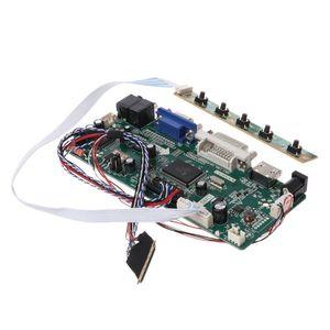 "Image 5 - Placa de controlador lcd dvi vga módulo de áudio pc driver kit diy 15.6 ""display b156xw02 1366x768 1ch 6/8 bit painel de 40 pinos"