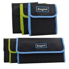 KnightX กล้องกระเป๋าสตางค์เลนส์อะแดปเตอร์แหวนกระเป๋าผู้ถือกระเป๋า 3 4 6 กระเป๋าสำหรับ Cokin UV CPL FLD ND สี D5200