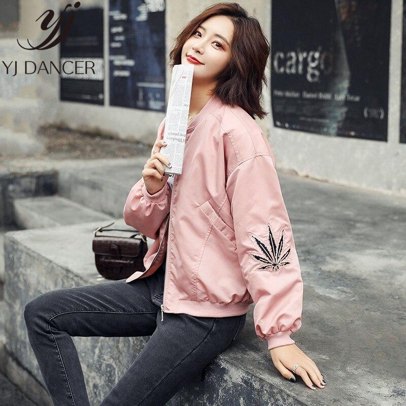 Fashion Women's   Jacket   2019 Spring Coats Long Sleeve   Basic     Jackets   Bomber Thin Women's   Jacket   Windbreaker Female   Jackets   YYY489