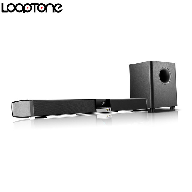 Looptone 2 1 Soundbar System W 6 5 Wireless Hifi Subwoofer Professional Amplifier For Home Theater
