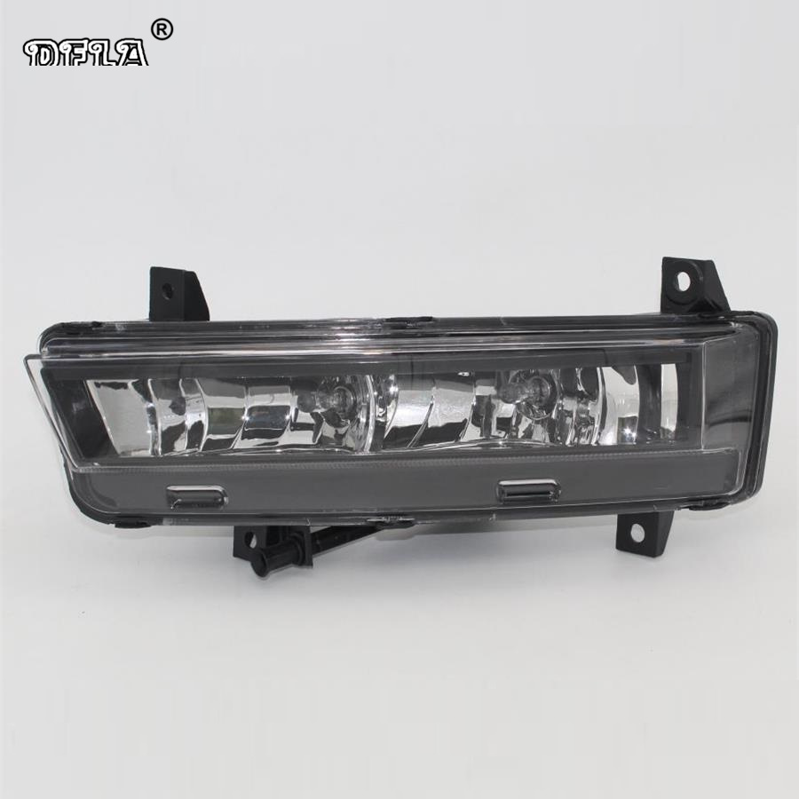 Right Side Car Light For Skoda Octavia A7 Sedan RS Combi RS 2013 2014 2015 2016 2017 Car-Styling Front DRL Fog Lamp Fog Light right side for vw polo vento derby 2014 2015 2016 2017 front halogen fog light fog lamp assembly two holes