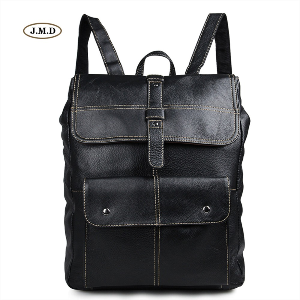 J.M.D Fashion Brand Genuine Leather Good Quality Backpack Book Rucksack School bag for College Student Causal Travel Bag 7335 s c cotton brand backpack men good quality genuine leather