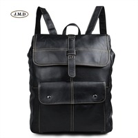 J M D Fashion Brand Genuine Leather Good Quality Backpack Book Rucksack School Bag For College