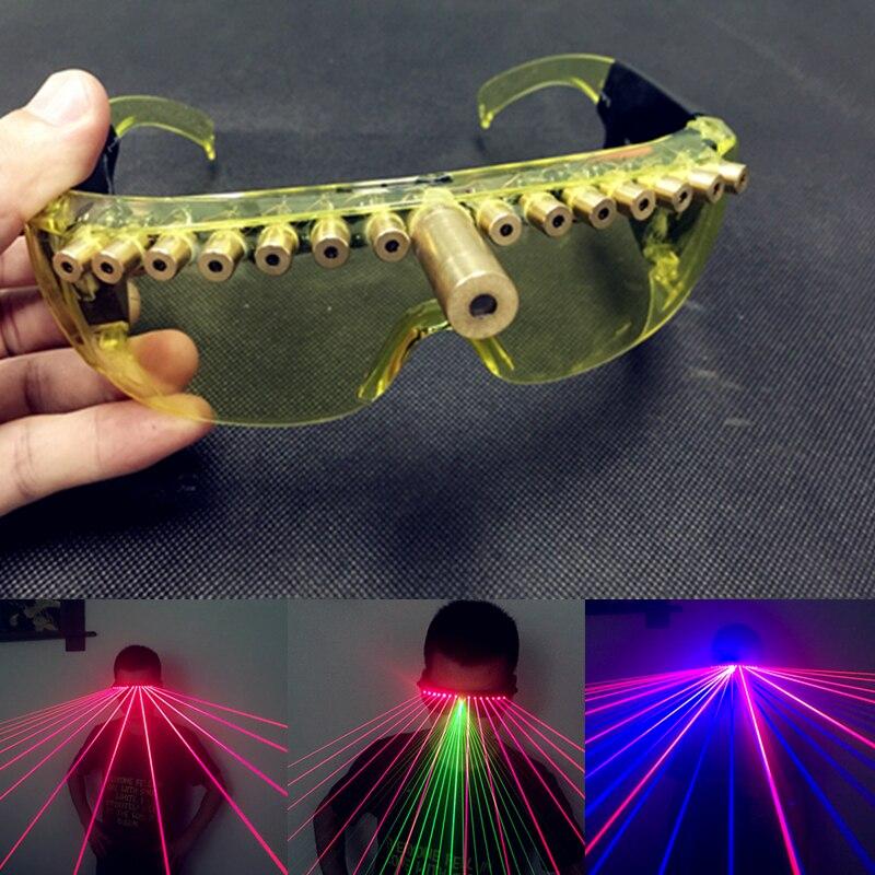 Зарядки дизайн бар лазерные очки красный, зеленый, красный и синий двухцветный лазерная очки вечерние светящиеся очки оборудования