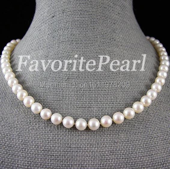 Pearl Necklace - AAA 7.5-8MM 17-18 Inches White Color Freshwater Pearl Necklace Perfect Gift Bridesmaid Wedding Jewelry tenying dbxb100 universal male to male dupont cables set for arduino green 22 5cm 100 pcs