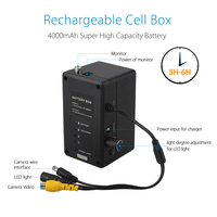 12V 4000mah Rechargeable Cell Box For EYOYO Original 9 Inch Video Fish Finder