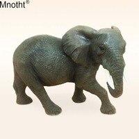Mnotht 1/6 Слон Модель игрушки домашнее животное Скульптура повезло деньги аксессуар для фигурку коллекция подарки Гостиная
