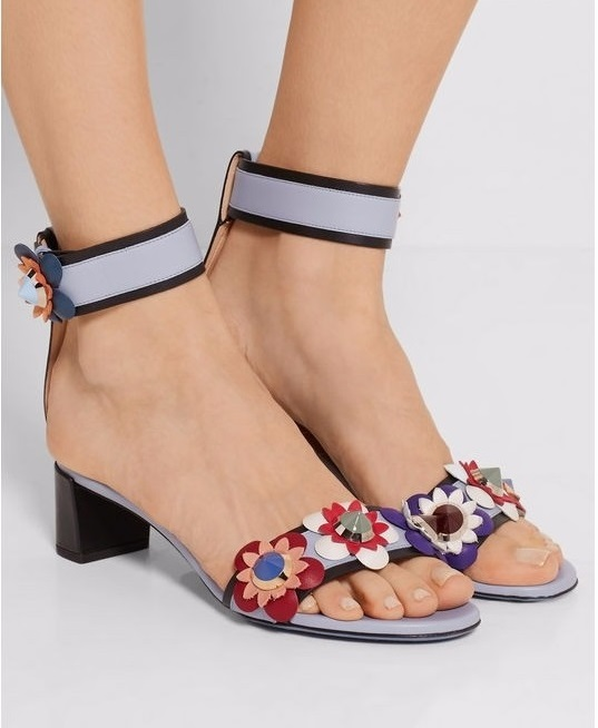 2017 Newest Fashion Floral Low Square Heels Sweet Purple Sandals Women Elegant Ankle Strap Flower Decorated Shoes For Summer brand new sale fashion low fretwork heels rhinestone women party shoes elegant sweet ankle buckle strap lady top quality sandals