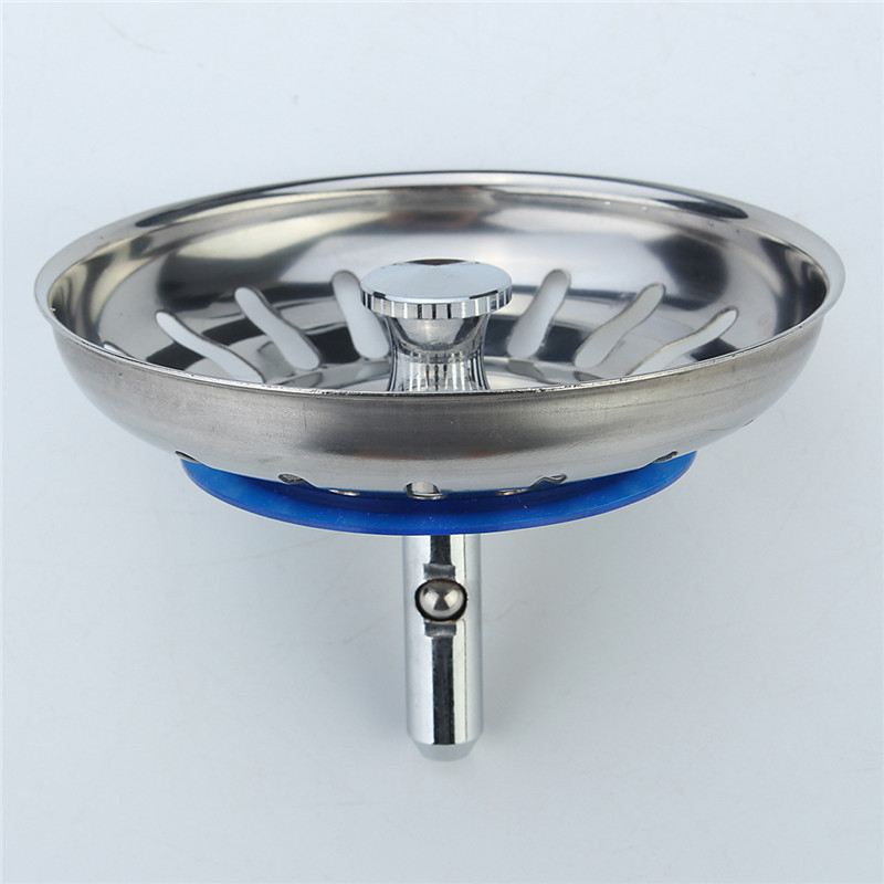 high quality 1pc 304 stainless steel kitchen sink strainer stopper waste plug sink filter bathroom basin - Kitchen Sink Filter