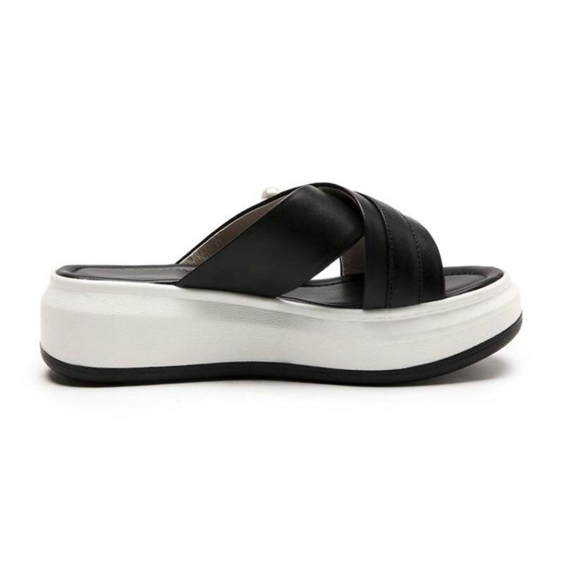 Plate Mocassins Plats Chaussures Femme Pour Carzicuzin forme D'été Vacances 34 Noir Femmes Plage Bout Sandales Mode 43 Ouvert Pantoufles À Taille blanc n8wk0OPX