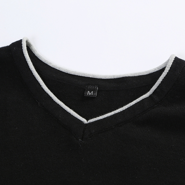 Clothing Pullover Mens Sweaters V-Neck  4