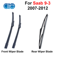 For Toyota Prius 2003 2009 Combo Silicone Rubber Front And Rear Windscreen Wiper Blade Windshield Best