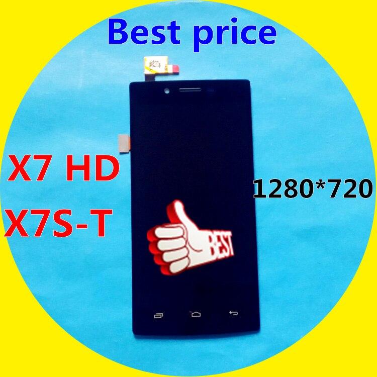 imágenes para Nueva Alta Calidad Iocean X7 HD LCD pantalla y pantalla Táctil Montaje de La pantalla de HD X7 IOCEAN X7S-T 1280*720 Sin Marco