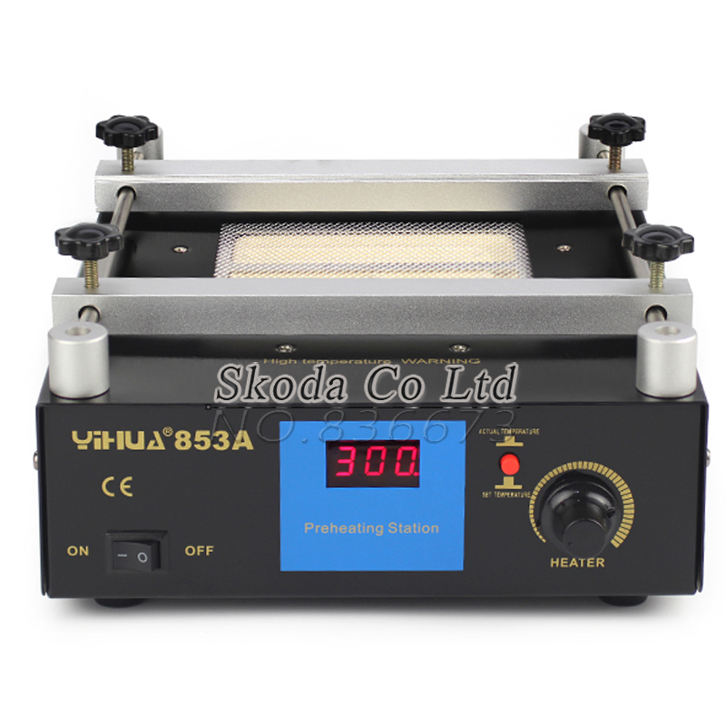 YIHUA 853A 220V High Power ESD BGA rework station PCB Preheat and Desoldering IR Preheating Station цена 2017