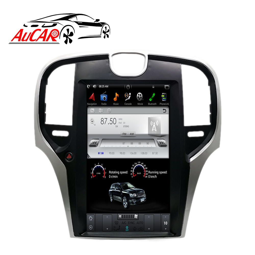 AuCAR Android Tesla Vertical Car Radio for <font><b>Chrysler</b></font> <font><b>300C</b></font> <font><b>2013</b></font>- DVD Player GPS Multimedia Navigation Stereo Touch Screen BT Video image