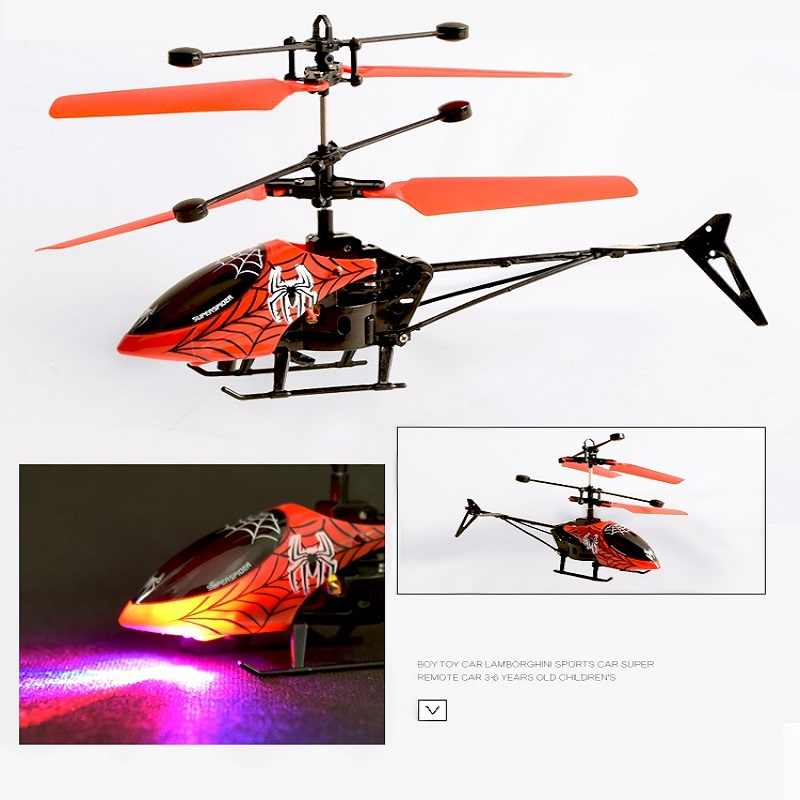 Mini Quadcopter drone RC Drone Infraed Induction Aircraft Flying Helicopter Flashing Light Toy Gift Present For Kids