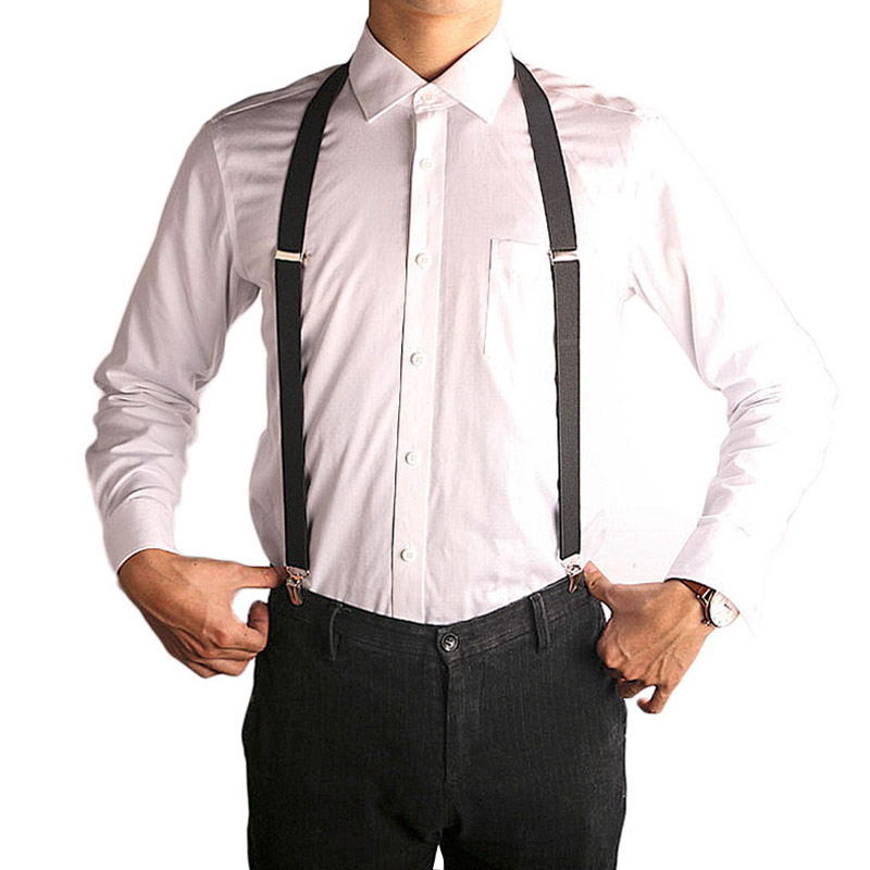 ORANGE Mens Womens Clip-on Suspenders Elastic Y-Shape Adjustable Braces New