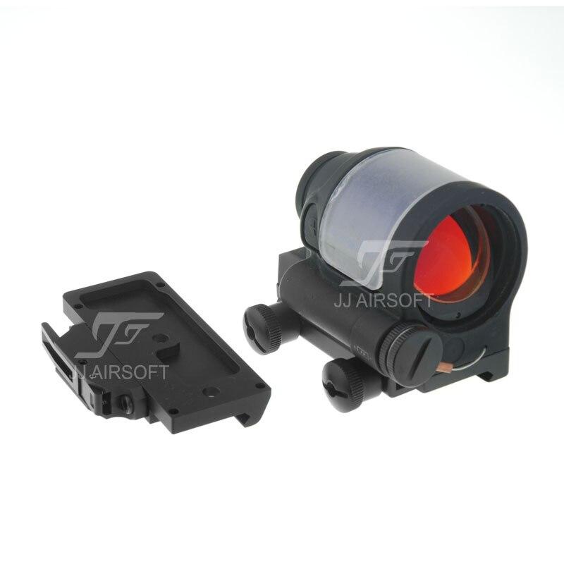 Джей Джей страйкбол системы SRS Стиль 1x38 Красная точка (солнечная батарея клетки) (черный) черный / быстросъемное Крепление AC32002 (черный)