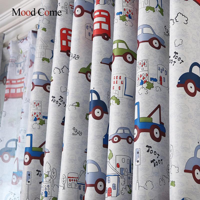 de dibujos animados coche cortinas opacas para habitacin de los nios muchachas de los muchachos del