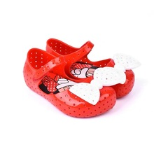 Melissa Cute Mickey Bowknot Jelly Sandals 2019 Girls Kids Children Beach Shoes Non-slip