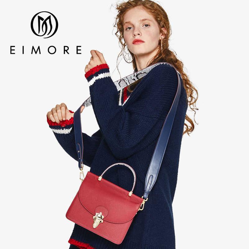 Бренд EIMOR 2019 новая сумка из натуральной кожи с клапаном Женская сумка через плечо женская сумка через плечо Противоугонная сумка с замком