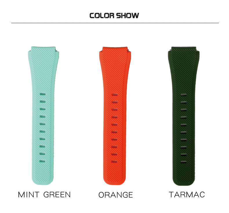 Sikai 22mm Soft Silicone Watch Band With Protective Case For Huami Amazfit Pace Bracelet Smarch Wristband Straps In Watchbands From Watches