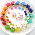 10 pairs/lot  Newest Design Flower Earrings For Women Jewelry 16 mm