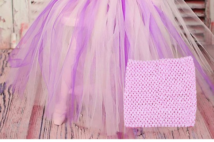 FENGRISE X23cm Tulle Spool Tutu Crochet Chest Wrap Tube Tops Apparel Sewing Knit Fabric Girl Birthday Gifts Headbands Skirt 2