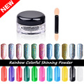New 2g/Box Shinning Mirror Nail Glitter Powder Perfect Holographic Nails Mirror Powder Dust Laser Silver Nails Pigment