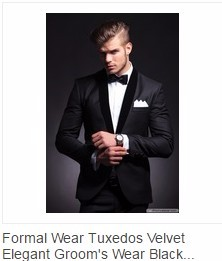 velvet lapel tuxedos