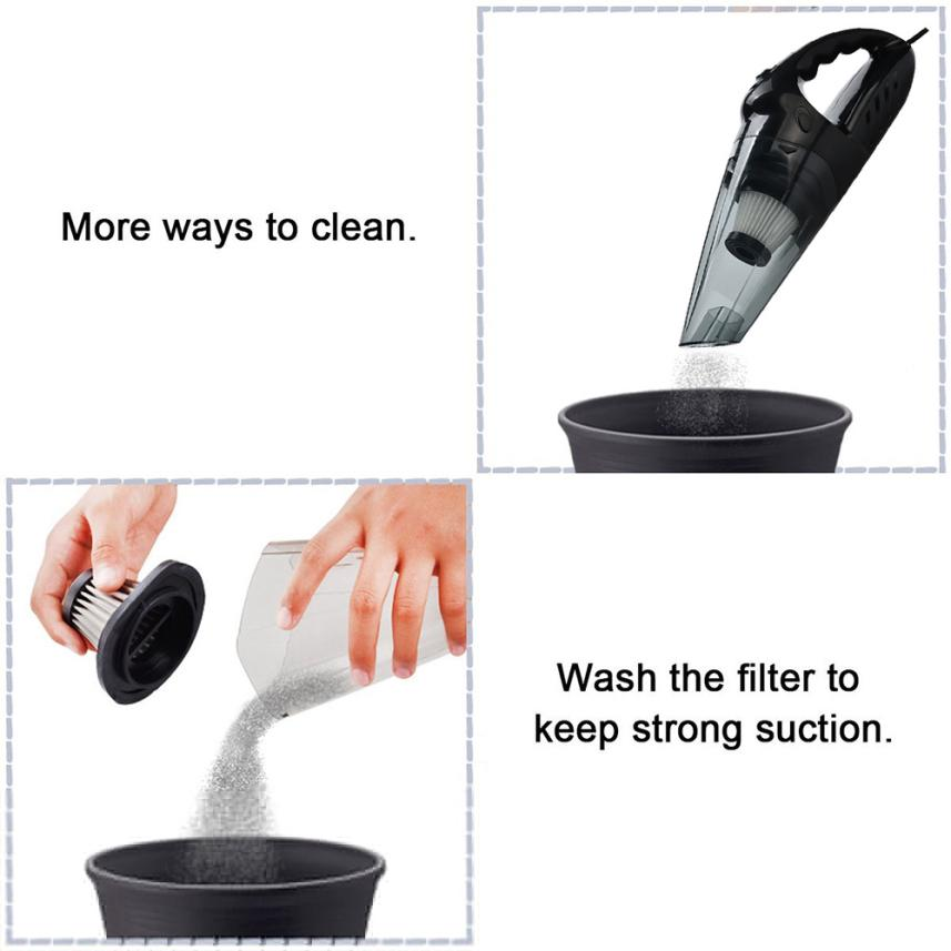 Kongyide 12V Hand Vacuum Cleaner,75dB Silent Pet Hair Vacuum for Home & Car Cleaning Apr5 Drop Ship