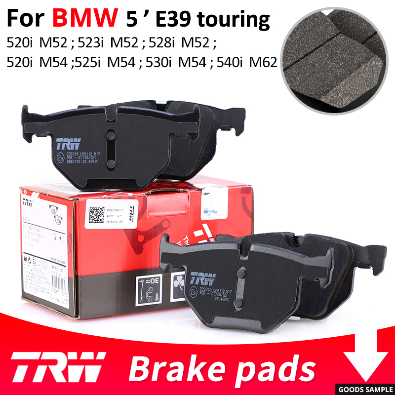 4pieces/set TRW Front/Rear Car Brake Pads/Brake piece For BMW 5 series E39 touring 520i 523i 525i 528i 530i 540i for bmw e39 540i 530i 528i 525i 523i m5 2000 2003 post facelift headlight multi color ultra bright rgb led angel eyes kit