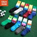 8pcs/lot  Brand New Mens Breathable Absorbent Cotton Meias Tide Male Thick Printing Medium Harajuku Socks Multi-color Hot Sale