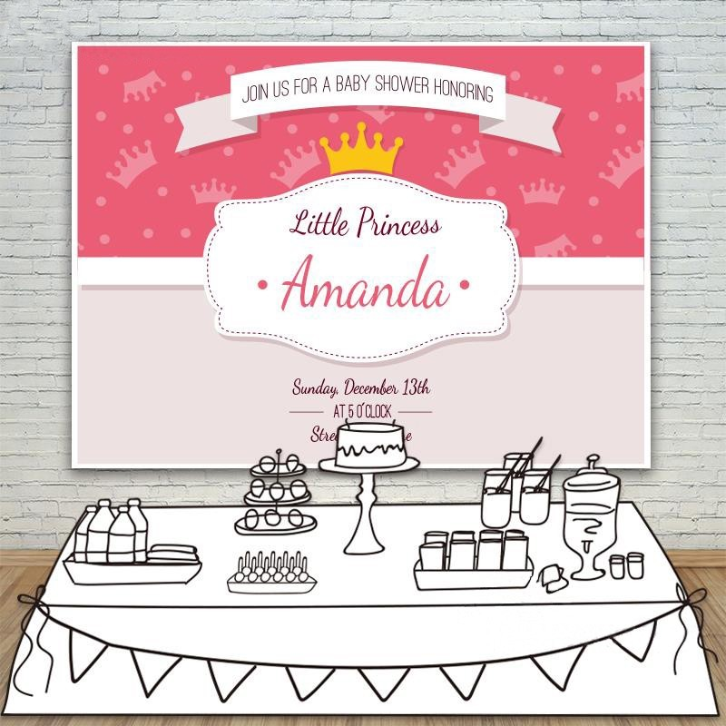 DIY custom Little Prince Baby Shower Crown Party Customize Backgrounds Vinyl cloth Computer printed birthday  backdrops ночники trousselier светильник ночник в форме куба little prince